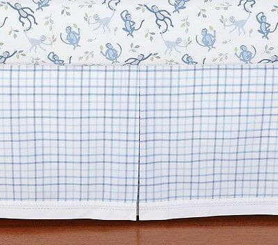 New & Sealed! Pottery Barn Kids Daniel Plaid Crib Bedskirt Bed Skirt Fast Ship!