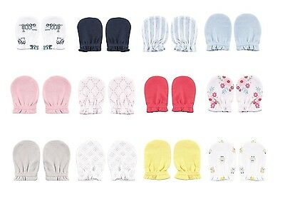 Luvable Friends 4 Pack Baby Scratch Mittens 100% Cotton Boys Girls New