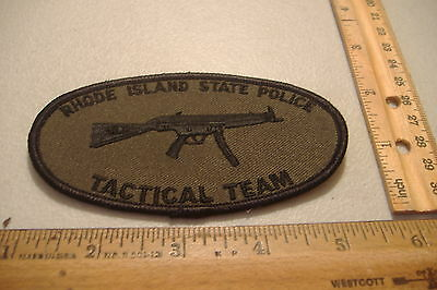 ~Rhode Island State Police Tactical Team~Fabric Patch~