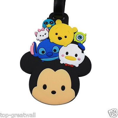New Tusm Tusm Mickey Mouse Monsters Mike Rubber Luggage Tags Baggage Tag