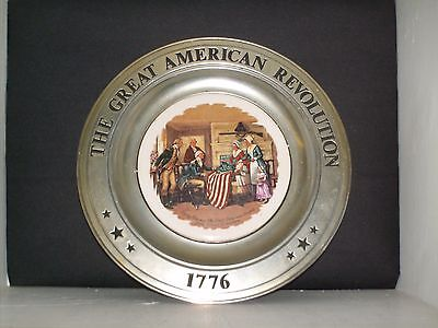 The American Revolution Collectible Pewter Plate-Betsy Ross Stars & Stripes