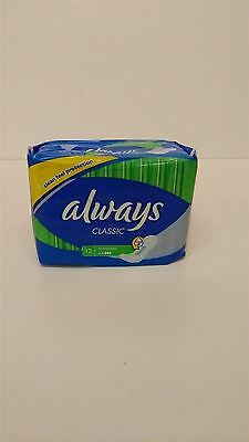 Always Classic Standard Sanitary Pads FOUR PACK 4x12 Pads