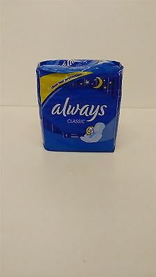 Always Classic Night Sanitary Pads FOUR PACK 4x8 Pads