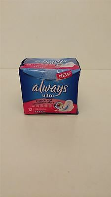 Always Ultra Sanitary Pads Super Plus 4 Packs Of 12 Pads Neutralizes Odor