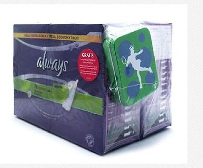 Always Normal Pantyliners Chamomile with Free Tin Box Four Pack 4x39