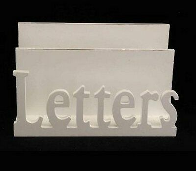 Gisela Graham White Wooden Letter Rack Post Organiser Holder Chic Shabby