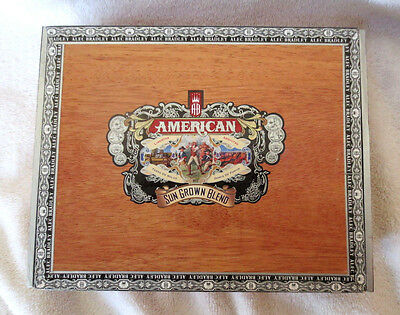 Alec Bradley American Sun Grown Blend Toro Wood Cigar Box - Nice!