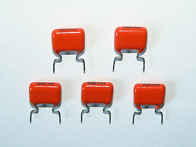 10 x NOS 0.1uF .1uF 10% 250V Philips/BC MKT368 Capacitors Tube Amplifier