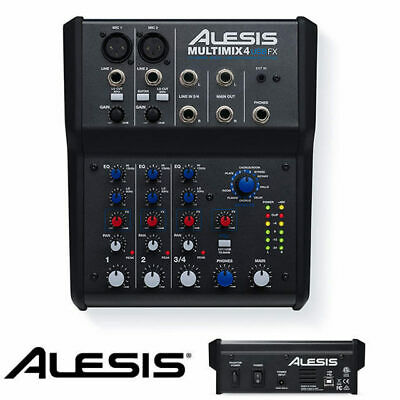 Alesis MultiMix 4 USB FX 4 Channel Mixing desk with Effect and USB