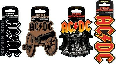 AC/DC Set of 4 Die-Cut Stickers (Repositionable Vinyl Stickers)