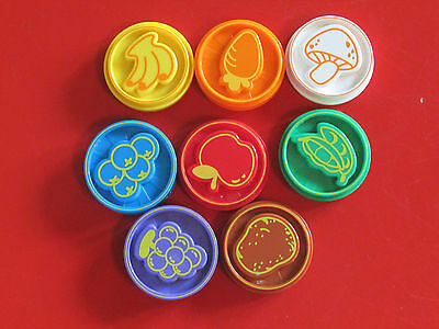 Vtech Chomp & Count Dino 8 Food Pieces Coins Discs Replacement Parts - New