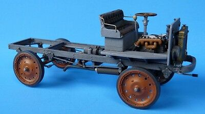O/On3/On30 1/48 WISEMAN MODEL SERVICES T-201 NASH-QUAD TRUCK BARE CHASSIS KIT