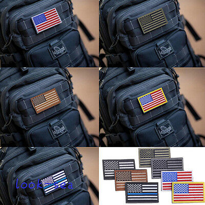 New I7 Colors AMERICAN FLAG USA Flag Embroidered  Armband Applique Patch