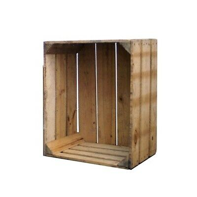 Rustic Vintage Wooden Apple Crates Storage Box Fruit Crates Shabby Chic (Cr8)
