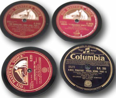 Set of four 78rpm up-cycled vinyl record drinks coasters