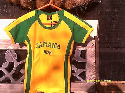 Sports Top,  Jamaican Nationl Colour Designer Sports Top...size. 6-8yrs,