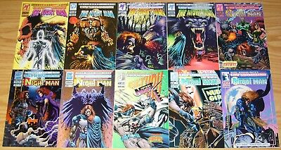 Night Man #1-23 VF/NM complete series + v2 #∞ & 1-4 + (7) more malibu ultraverse