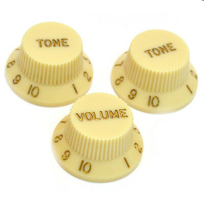 *NEW CONTROL KNOBS for Fender Standard Stratocaster Strat Guitar Parts Cream