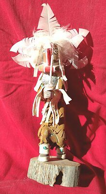 9 iNCH KACHINA DOLL NAVAJO KOKOPELLI SIGNED NUMBERED AUTHENTIC NATIVE AMERICAN