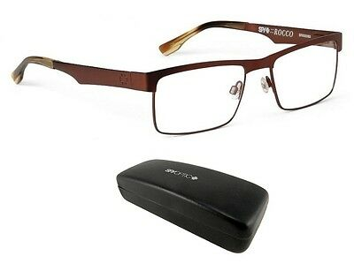 New Spy Optic Rocco (55-18-140) Brown Mens Rx Eyeglass Frames Msrp$160
