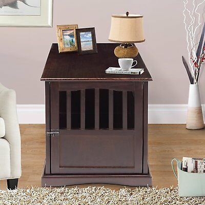"""Yu Shan Co USA Espresso Pet Crate End Table, 600-44P - 24.5"""" x 20"""" x 27.5"""" New"""