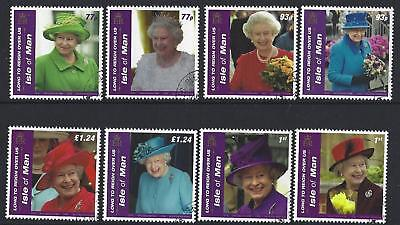 "Isle Of Man 2016 ""long To Reign Over Us"" Fine Used Set Of 8"