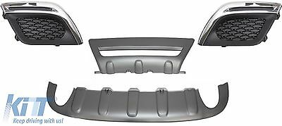 Volvo XC60 10-13 R Design Look Skid Plates Valance + Fog Lights Covers
