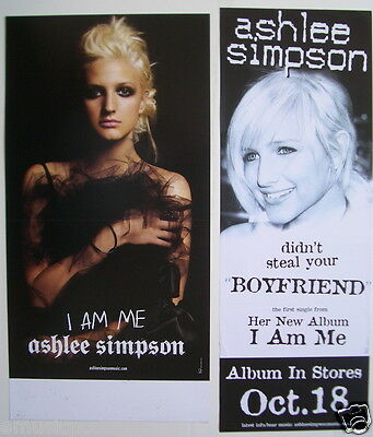 "Ashlee Simpson: 2 Promo Posters / Banners ""i Am Me & Didn't Steal Your Boyfriend"