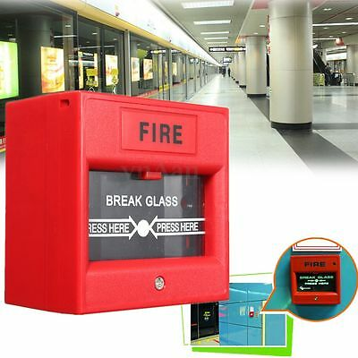 Emergency Call Point Break Glass Fire Alarm Button Access Control System Alert