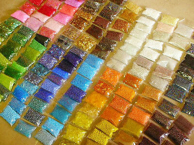 POSTEN 140 PACK ROCCAILLES GLAS PERLEN 2 3 4 6 mm ROCAILLES SEED BEADS RUND MIX