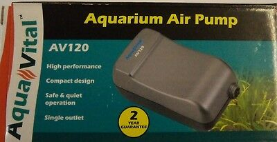 Aquavital Av120 Aquarium Air Pump 9325136057003