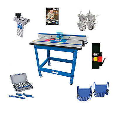 Kreg PRS1045 (KRS1035, PRS1025, PRS1015) Router Table, Caster, Switch, Bars, DVD