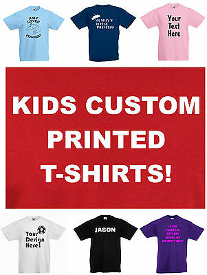 Kids / Child's CUSTOM T-SHIRT, Personalised, Printed to order, 3 to 15 yrs
