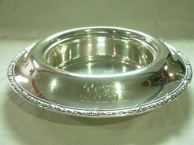"Antique Black Starr &frost Exclusive Design 12"" Sterling Silver Centerpiece Bowl"