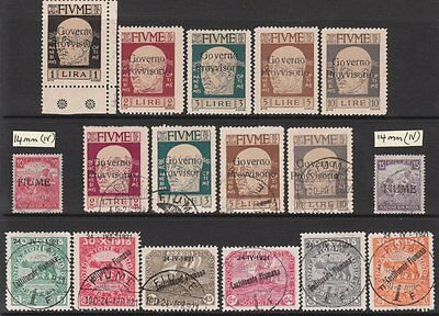 FIUME STAMP COLLECTION incl VARIETIES & POSTAGE DUES MNH/MUHMM/MINT/USED High CV