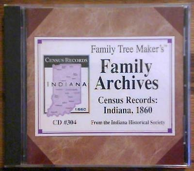 Family Tree Maker Family Archives CD#304 ~ Census Records - Indiana 1860