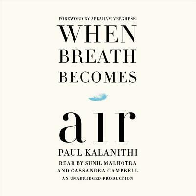 When Breath Becomes Air by Paul Kalanithi (English) Compact Disc Book Free Shipp