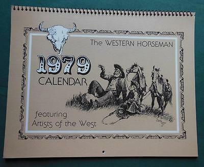 The Western Horseman 1979 12 Month Calender Artists Of The West Horses Cowboys
