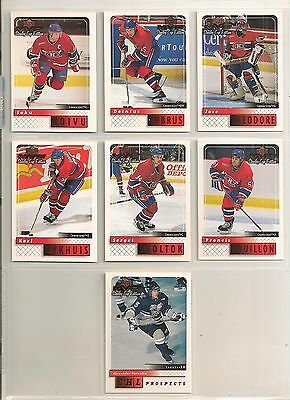1999-00 UD MVP Stanley Cup Edition Canadiens Reg. & Silver Script (14 Cards)