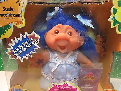 "2001 SUSIE SWEETDREAMS - 5"" DAM Playmates Troll Doll - NEW IN PACKAGE - Rare"