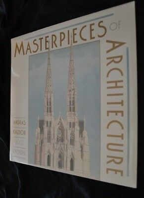 2002 Calendar Masterpieces of Architecture Artist ANDRAS KALDOR Sealed! NRFP