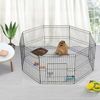 8-Panel Pet Play Indoor Pen Puppy Dog Animal Cage Run Folding Garden Fence