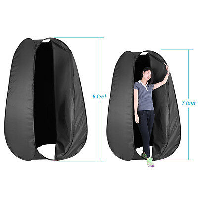 Neewer 8 Feet/244cm Collapsible Pop Up Changing Dressing Tent (Black)