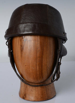 French Leather Motorcycle Helmet