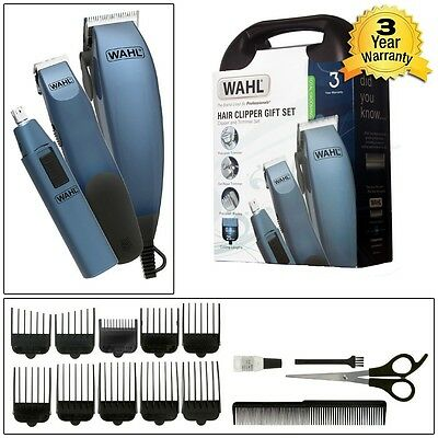 Mens Wahl Clipper Set + Case Beard Nose Ear Body Hair Trimmer Male Grooming Kit