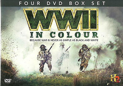 Wwii In Colour - 4 Dvd Box Set, Face To Face, Battleground & More World War Two