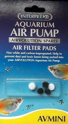 Interpet Airvolution Air Pump Mini Air Filter Pads 0755349025466