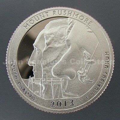 2013-S Mount Rushmore National Park Quarter - Gem Proof Deep Cameo (Clad)