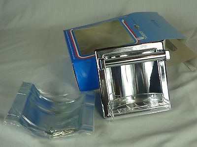 NOS Liberty Chrome Recessed Soap Dish with Grab Bar D398