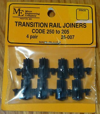 Micro Engineering, Inc. G #26007 Plastic Transition Rail Joiners Code 250-205
